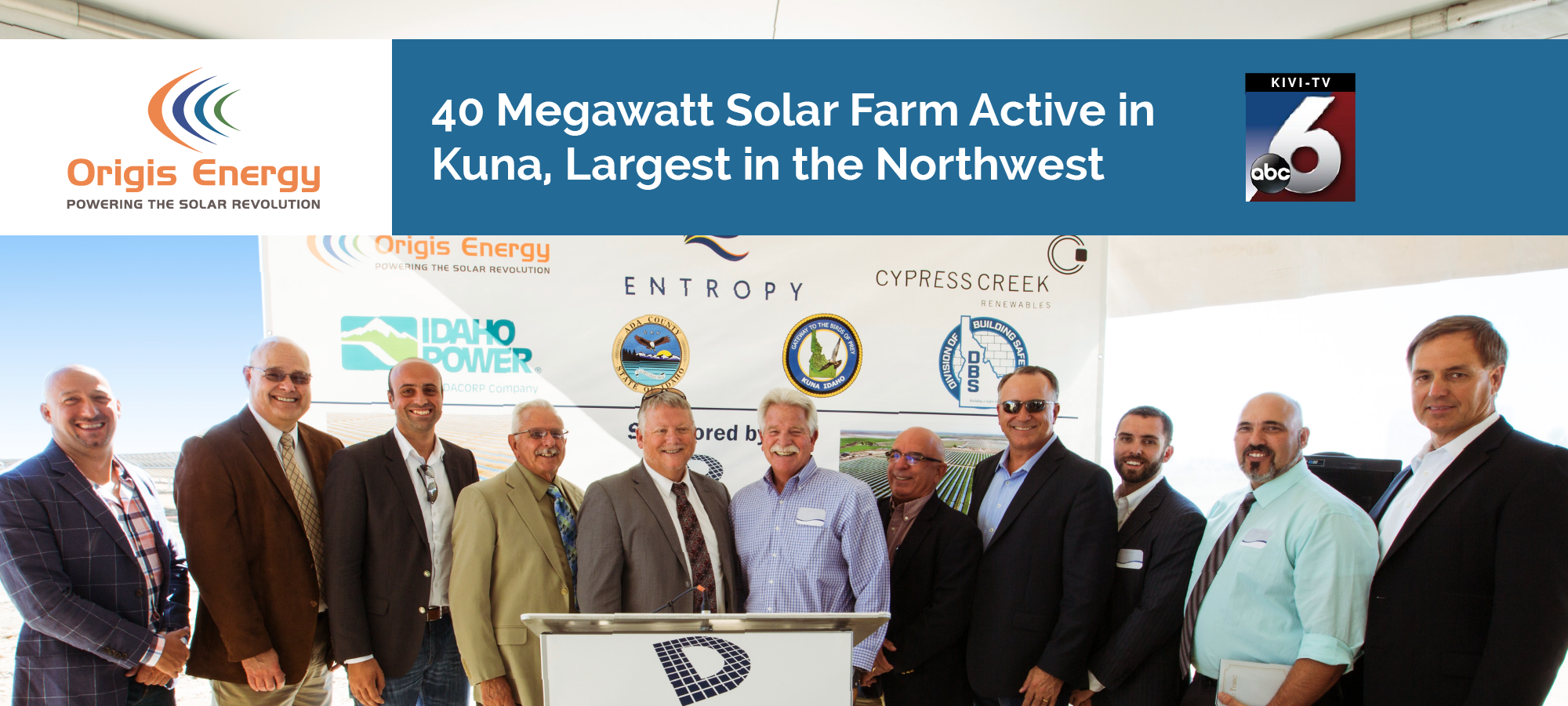 40MW Solar Farm Active in Kuna, Idaho