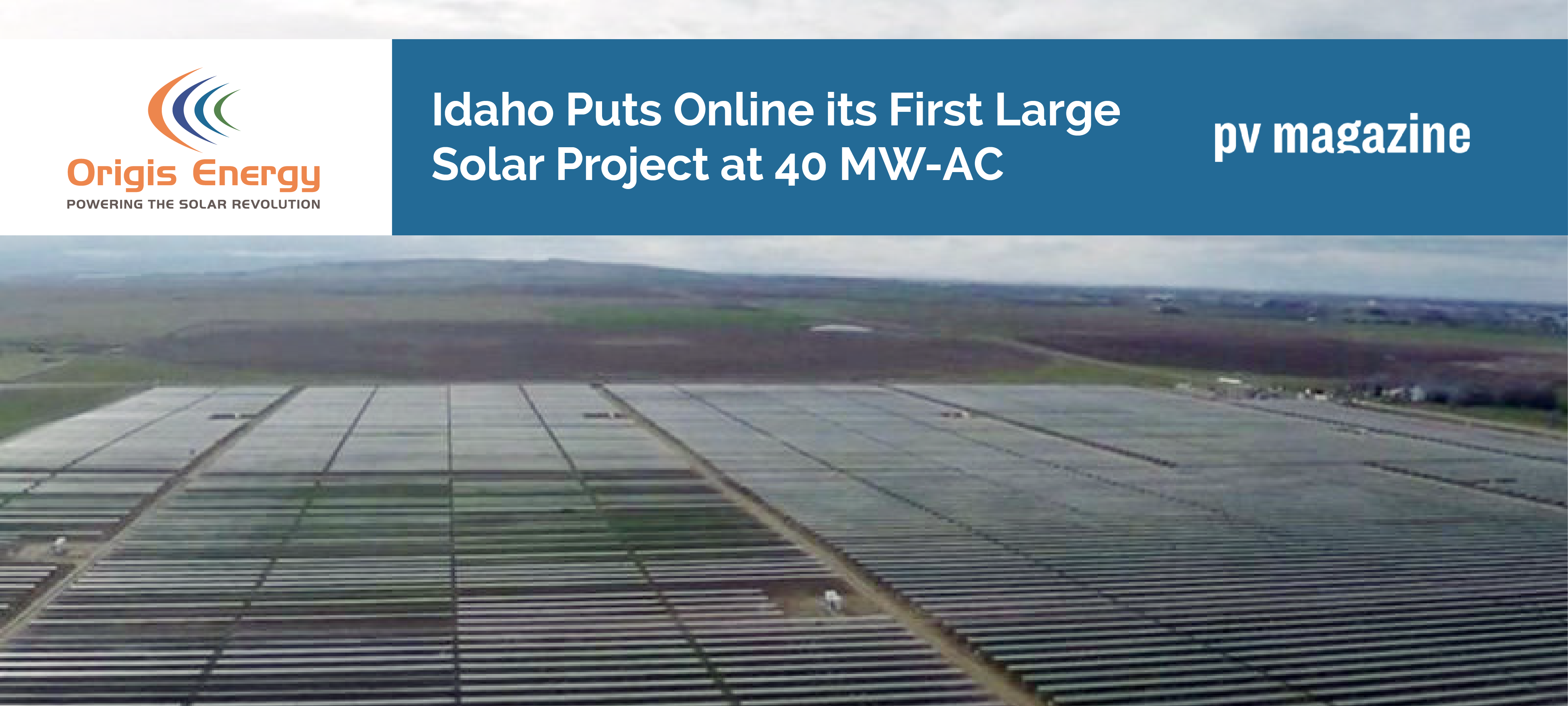 Idaho Solar | PV Magazine | Origis Energy