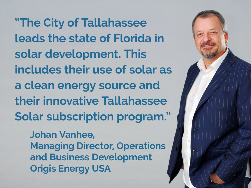 Origis Energy | Tallahassee Airport Groundbreaking | Johan Vanhee Quote