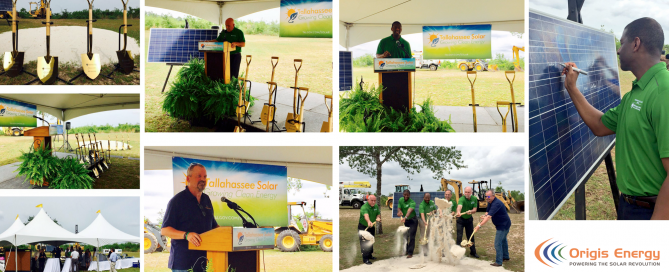 Origis Energy | City of Tallahassee groundbreaking collage