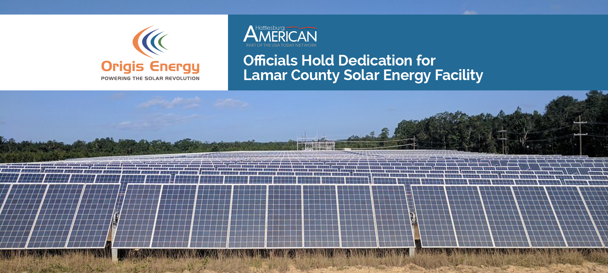Officials Hold Dedication for Lamar County Solar Energy Facility