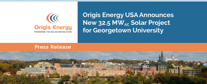 Origis Energy Announces Georgetown University Solar Project