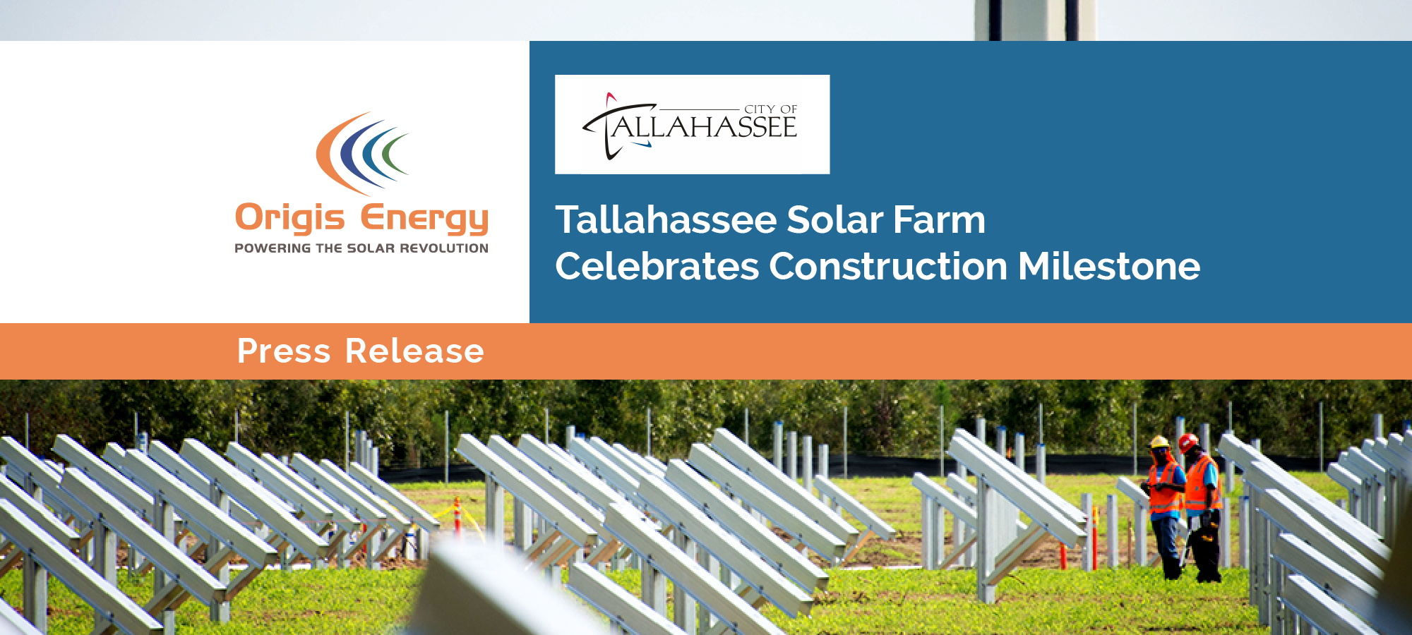 Tallahassee Solar Farm Celebrates Construction Milestone
