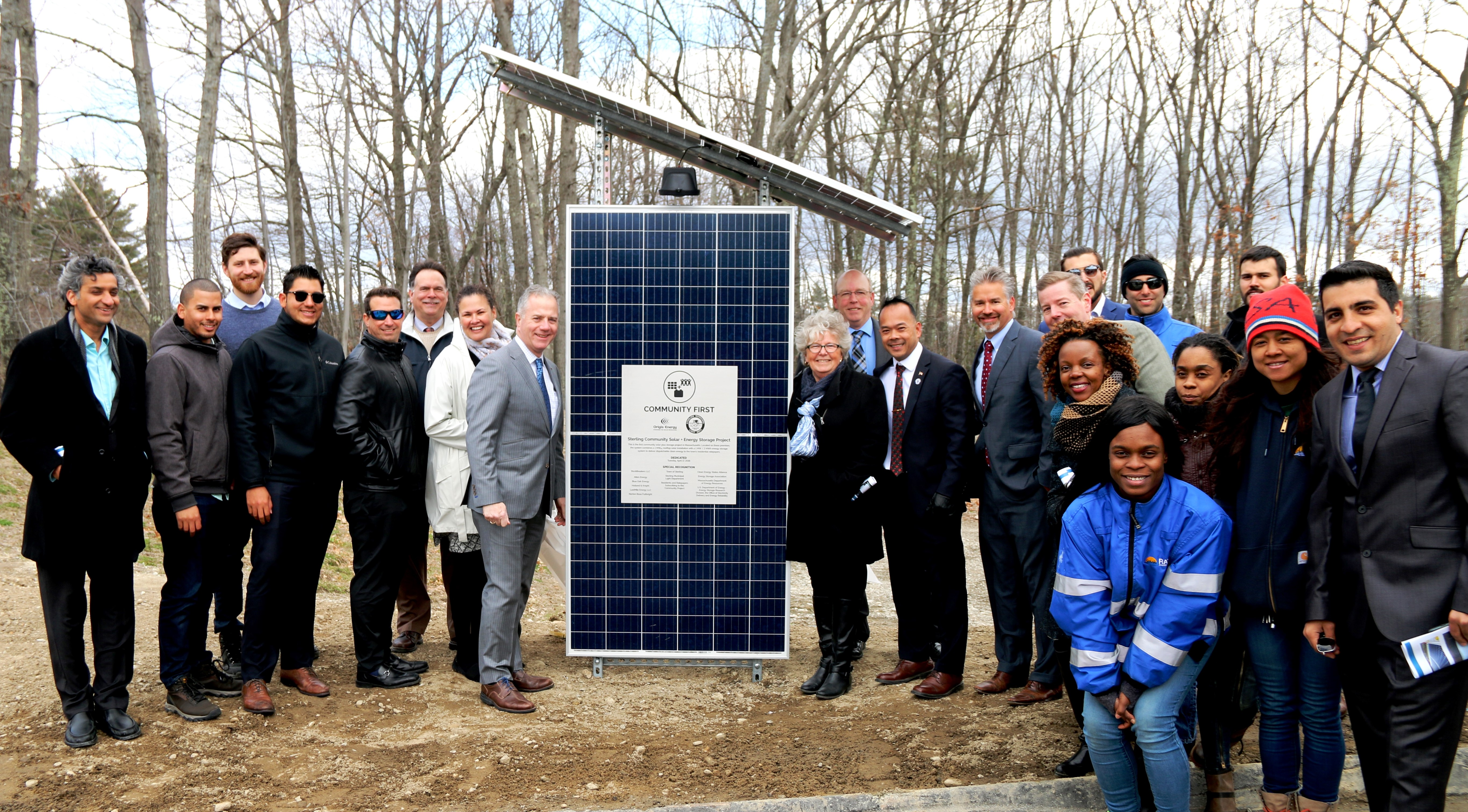 Sterling Solar Plus Storage Dedication April 17 2018 Origis Energy