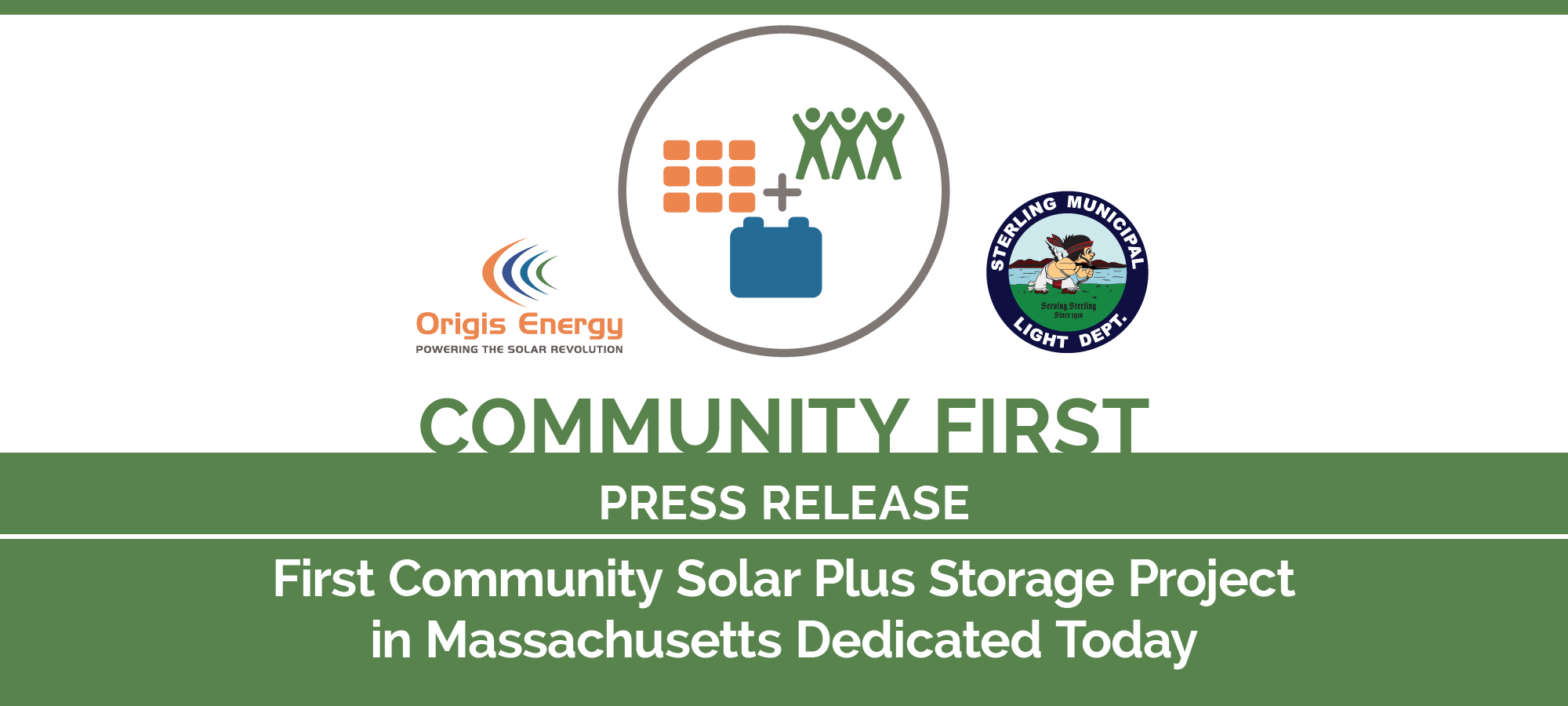 First Community Solar Plus Storage Project in Massachusetts Dedicated Today