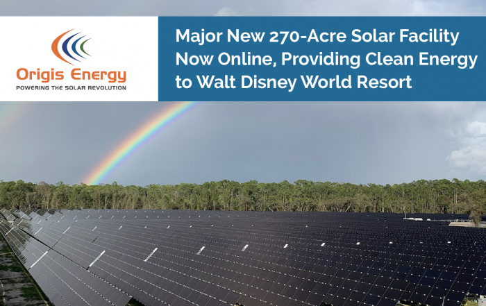 Origis Energy in the news - Disney solar image