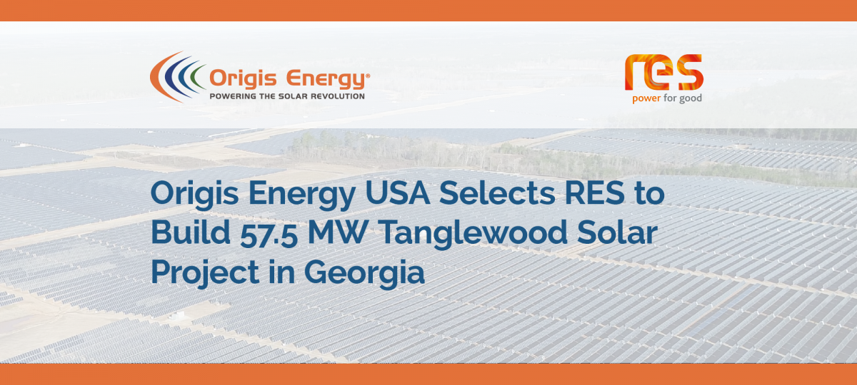 Origis Energy Selects RES for GA Solar 3 Tanglewood image