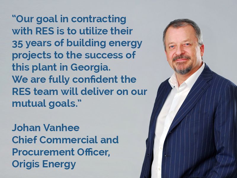 Origis Energy Selects RES for GA Solar 3 Tanglewood Quote image