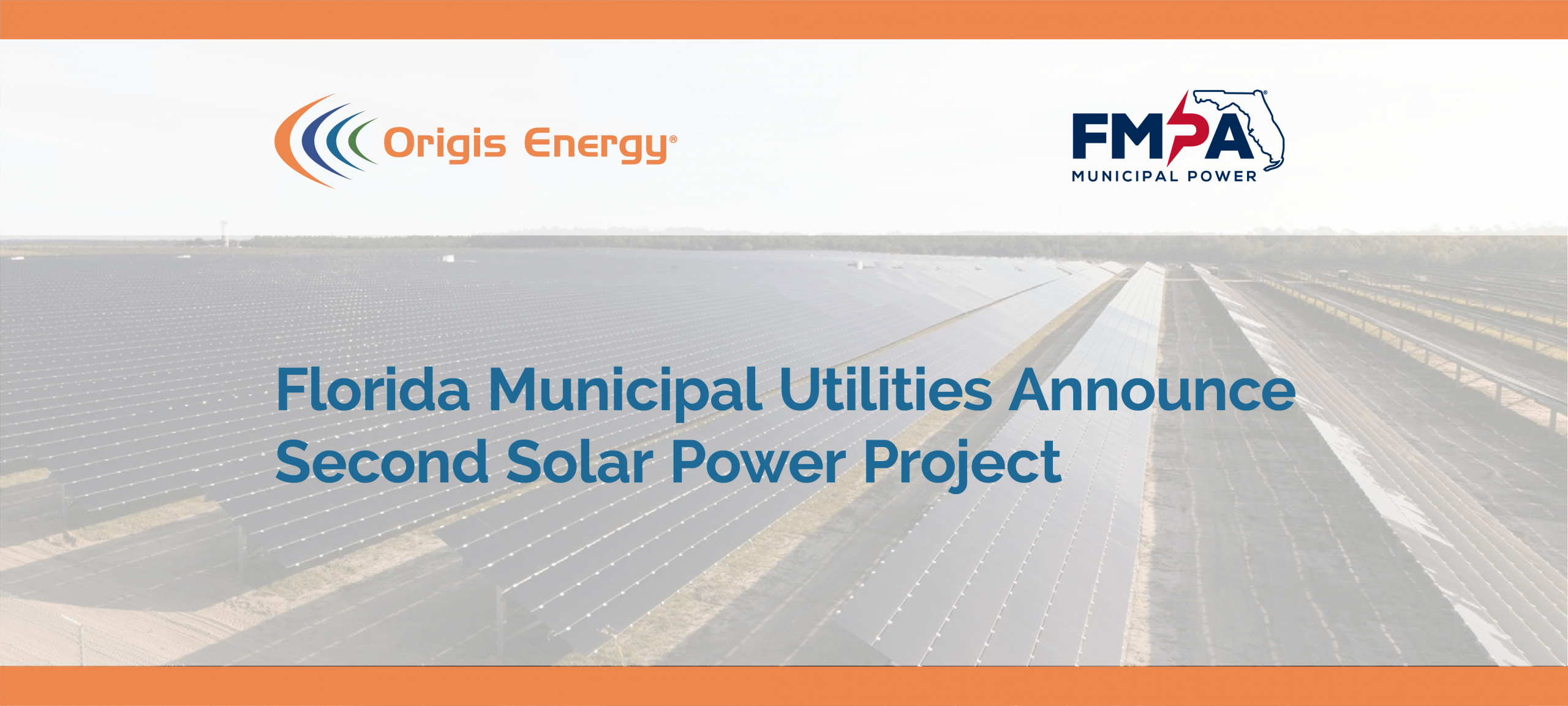 Florida Municipal Utilities Announce Second Solar Power Project